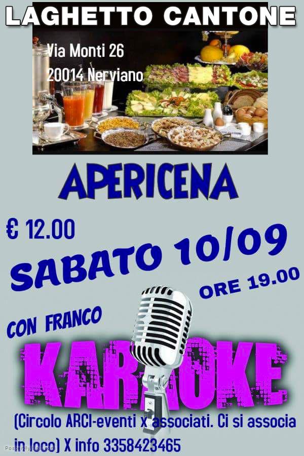 Aperitivo sabato 10 settembre con karaoke