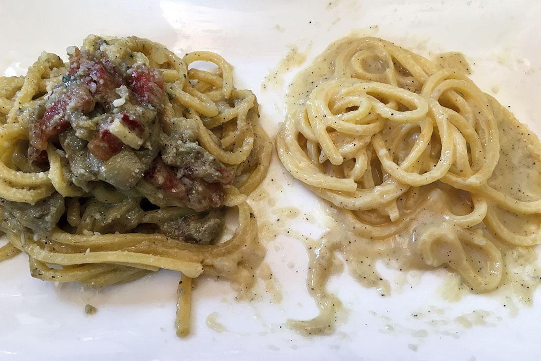 Cacio e pepe del Laghetto Cantone