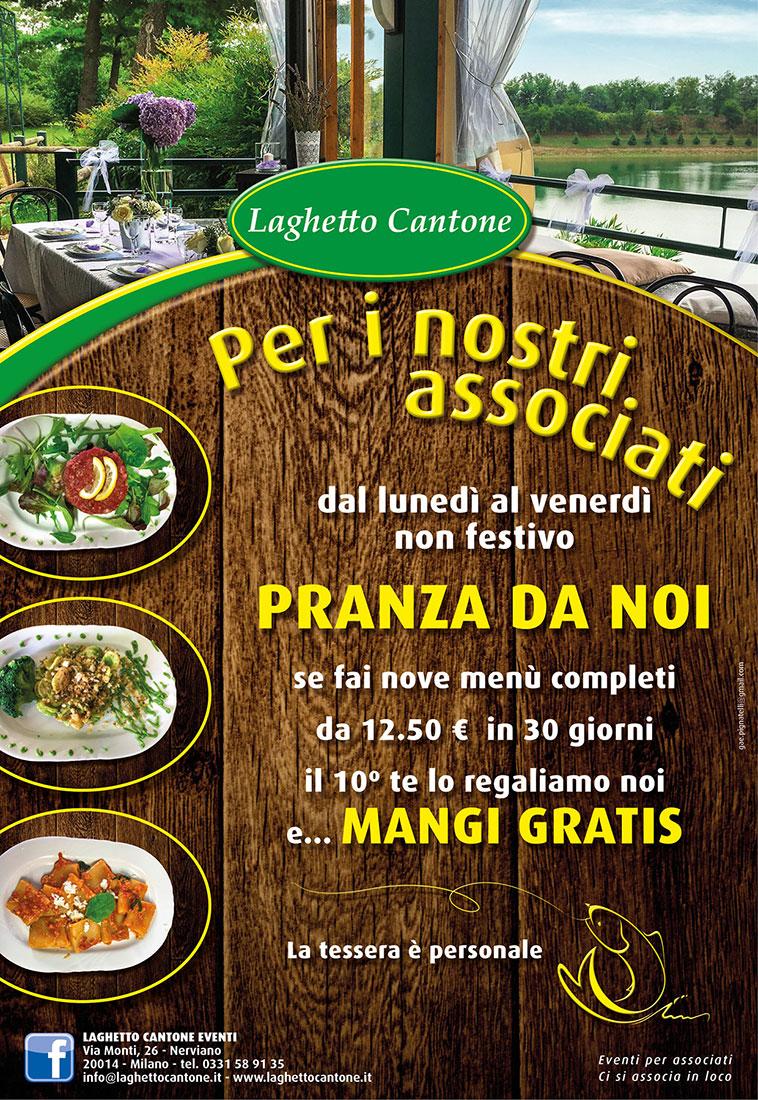 Pranza al Laghetto Cantone!