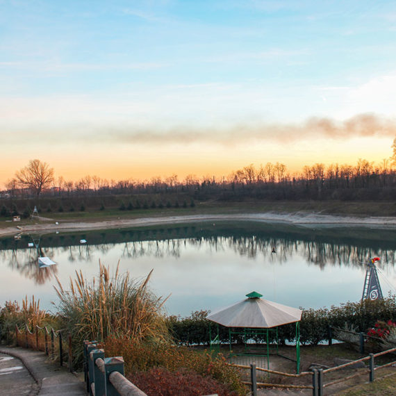 Il Lago Cantone al tramonto